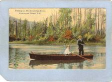 Buy CAN Vancouver Postcard Fishing On The Cowichan River can_box1~131