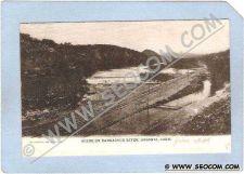 Buy CT Ansonia Scene On Naugatuck River Scene of River and RR Tracks ct_box1~4