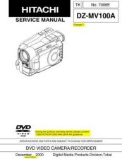Buy Hitachi DZMV100A Service Manual by download Mauritron #193873