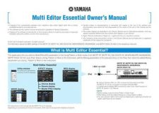 Buy Yamaha MULTI_EDITOR_ESSENTIAL_EN_OM_C0 Operating Guide by download Mauritron #2