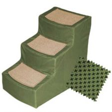 Buy Pet Gear Designer Stair III Pet Stairs with Removable Cover Sage