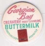 Buy CAN Parry Sound Milk Bottle Cap Name/Subject: Georgian Bay Creamery LTD. B~95