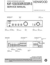 Buy KENWOOD KAF-1030 3030R 3030RS Technical Info by download #151848