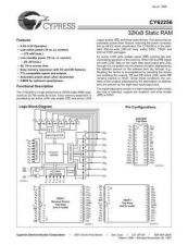 Buy INTEGRATED CIRCUIT DATA CY62256J Manual by download Mauritron #186766