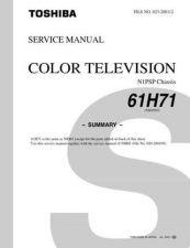 Buy TOSHIBA 61H71 SUM Service Schematics by download #160068