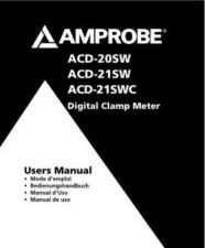 Buy Amprobe ACD31P User Instructions Operating Guide by download Mauritron #194168