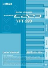 Buy Yamaha PSRE223_EN_OM_B0 Operating Guide by download Mauritron #204205