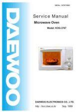 Buy DAEWOO SM KOG-3767 (E) Service Data by download #150586