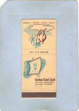 Buy CA San Diego Matchcover Tiki Kona Kai Club~53