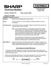 Buy Sharp FAX175 Technical Bulletin by download #138914