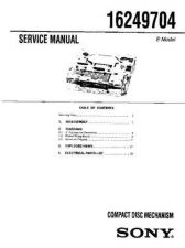 Buy SONY 16249704 Service Manual by download #166190