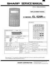 Buy Sharp 296 EL520R Manual by download #178167