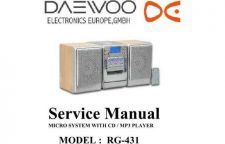 Buy Daewoo RG-431 (E) Service Manual by download #155098