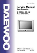 Buy DAEWOO SM DSC-32W9E (E) Service Data by download #150313