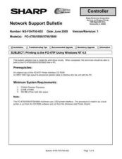 Buy Sharp NT4FO4700 Technical Bulletin by download #139083
