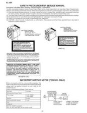 Buy XL35H SAFETY PRECAUTIONS AN Service Data by download #134277