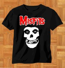 Buy NEW PUNK ROCK RETRO SKULL DESIGN MISFITS T-SHIRT