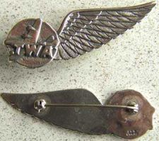 Buy TWA Stewardess Wing Sterling Silver Pin Back