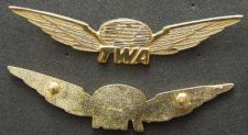 Buy TWA Stewardess Wing Sterling w Gold Plate 1990's
