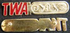 Buy TWA Hieroglyph Crew Name Tag Sterling