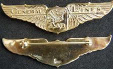 Buy General Air Lines (TWA) Pilot Wing Sterling with GP