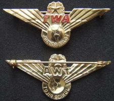 Buy Trans World Airlines Junior Pilot Sterling w Gold Plate