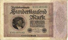 Buy GERMANY 100,000 Mark 1923 Banknote 01489480 Pick #83a