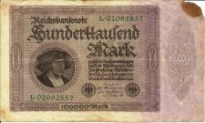 Buy Germany 100,000 Mark 1923 Banknote 02092857 #83a