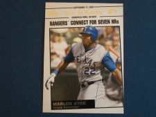 Buy 2008 Topps Update Year In Review #YR161 Marlon Byrd RANGERS