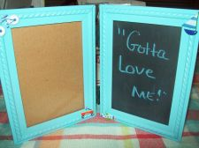 Buy Boy's new 3x5 frame and chalkboard - $15