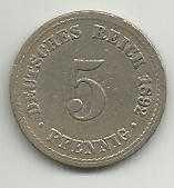 Buy Germany 5 Pfennig 1892