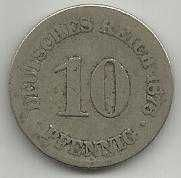 Buy Germany 10 Pfennig 1876