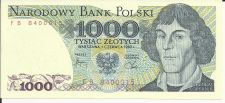 Buy Poland 1000 Zlotych 1988