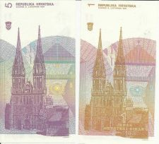 Buy Croatia 1 & 5 Dinar 1991 Ruder Boskovic at Center - Historic Eastern Bloc Note!