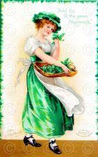 Buy Vintage Beautiful Lady St. Patricks Day Digital Image Postcard Ellen Clapsaddle