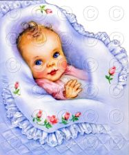 Buy New Baby Greetings Baby Blanket Vintage Nursery Digital Image Illustration