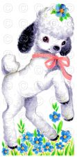 Buy Little Lamb (Style 2) Childrens Baby Vintage Nursery Digital Image Illustration