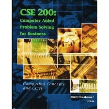 Buy CSE 200 Computer Aided Problem Solving for Business