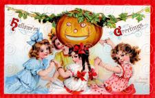Buy Vintage Victorian Halloween Greetings Postcard Digital Image Frances Brundage