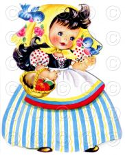 Buy Snow White Fairy Tale Pretty Girl Doll Card Vintage Digital Image