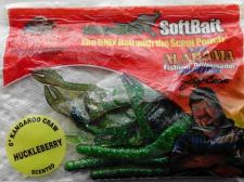 "Buy Kangaroo Soft Plastic Baits Lures 6"" Green Crawdads NIP Great-Bass Bait"
