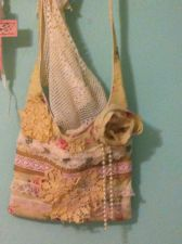 Buy Handcrafted one of a kind shabby chic vintage lace and doily purse