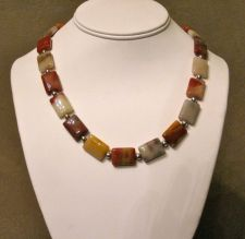 Buy Owyhee Jasper and Sterling Silver Handmade Necklace