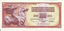 Buy YUGOSLAVIA 100 Dina P-90 Banknote AS 9081949 Equestrian Statue