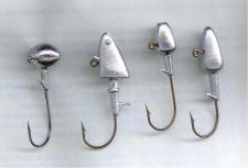 Buy 100 HAND POURED DARTER JIG, FOOTBALL JIG, BULLET JIG, AND SHAD HEAD JIG