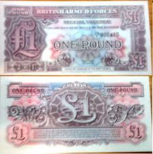 Buy British Armed Forces 1950 Mint One Pound Banknote P-M22