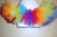 Buy Sexy Bright RAINBOW Rave TuTu Mini Costume Skirt
