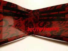 Buy HAND MADE DUCT TAPE WALLET RED WITH BLACK DRAGONS