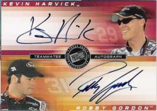 Buy 2003 Teammates Autograph Harvick Gordon 18/25 auto