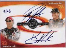Buy 2004 Teammates Autograph Kevin Harvick Robby Gordon 9/25 auto